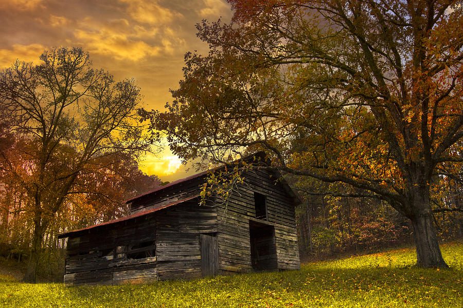 Appalachia Photograph - Chill Of An Early Fall by Debra and Dave Vanderlaan