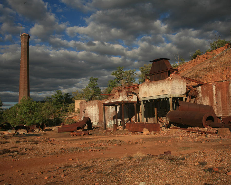 Smelter Photograph - Chillagoe Smelter by Gordon  Grimwade