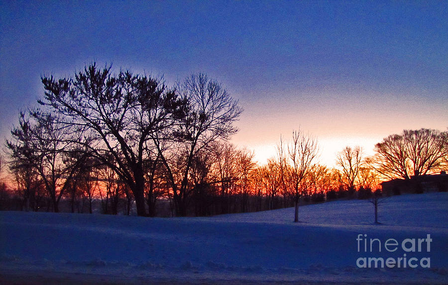 Sunrise Photograph - Chilly Beautiful Sunrise by Minding My  Visions by Adri and Ray