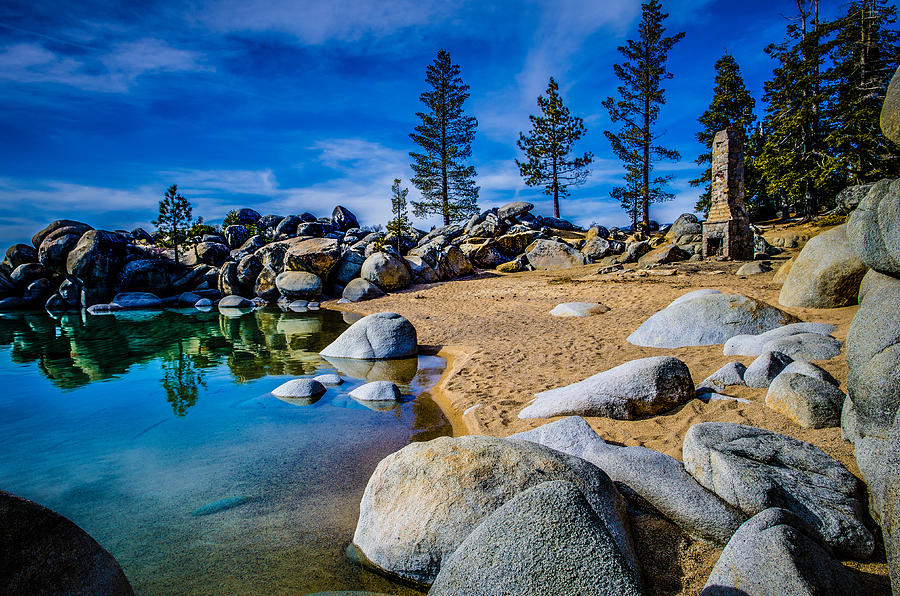 Chimney Beach Lake Tahoe Photograph By Scott Mcguire