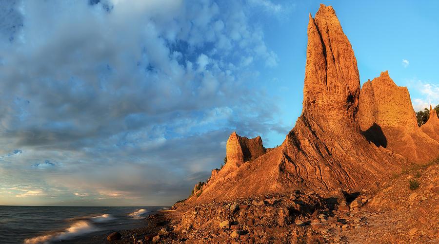 Chimney Bluffs Photograph - Chimney Bluffs 2 by Mark Papke