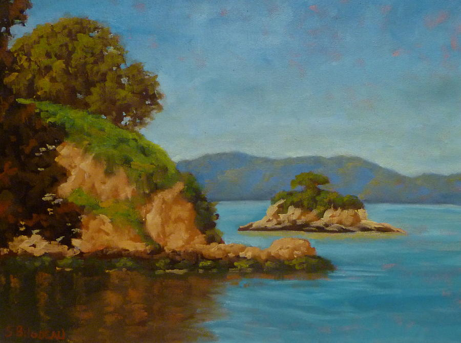 Landscape Painting - China Camp And Rat Island by Steven Guy Bilodeau