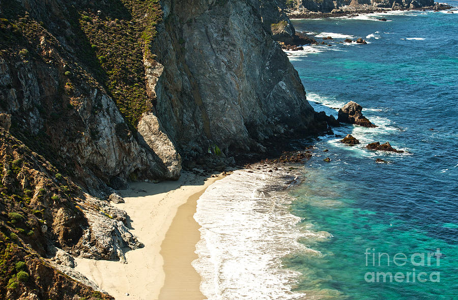 Point Lobos Photograph - China Cove At Point Lobos State Beach by Artist and Photographer Laura Wrede