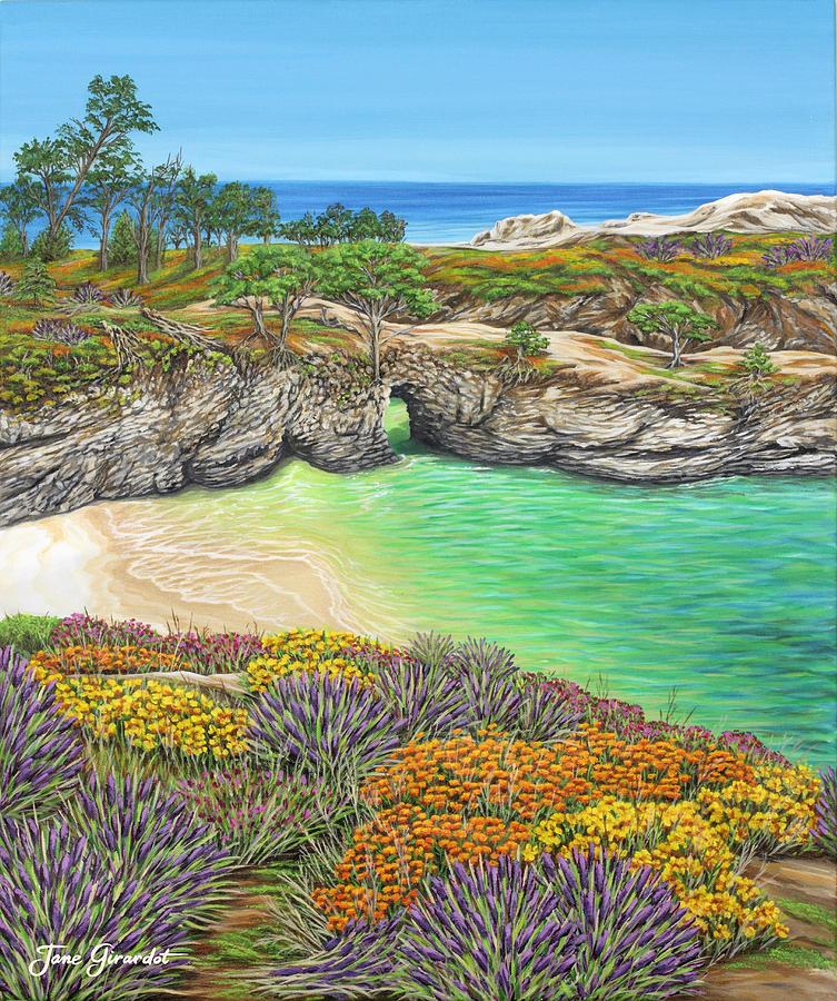 Ocean Painting - China Cove Paradise by Jane Girardot