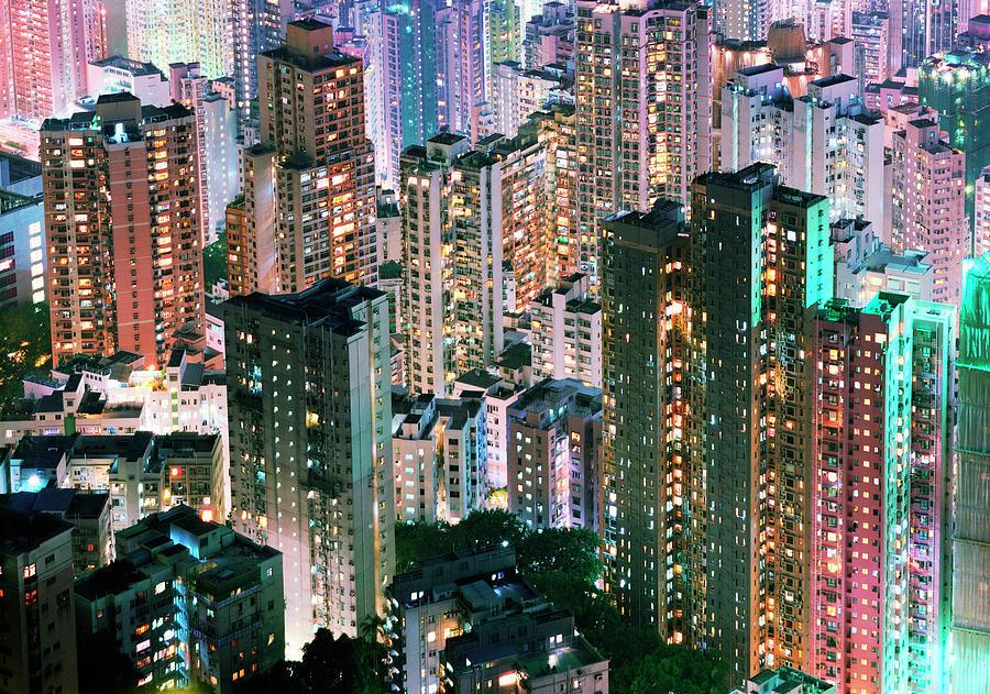 China, Hong Kong, Apartment Blocks At Photograph by Martin Puddy