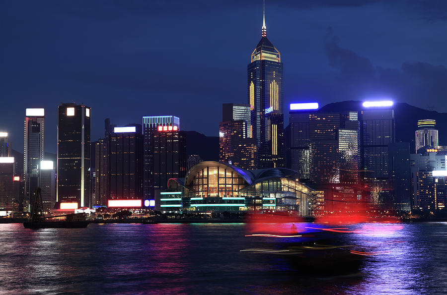 China Hongkong Night Photograph by Real444
