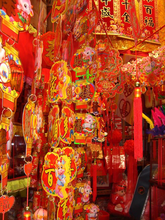 China Town Photograph - China town lanterns by Jack Edson Adams