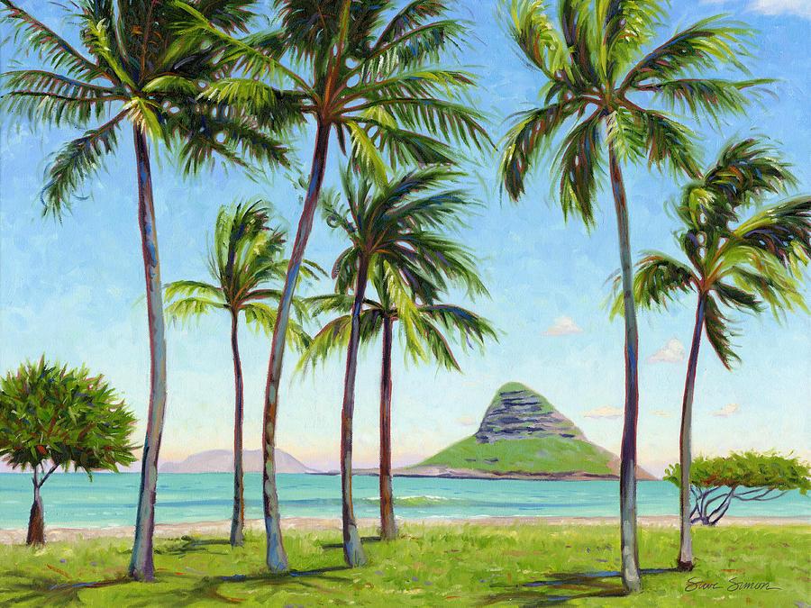 Chinamans Hat Painting - Chinamans Hat - Oahu by Steve Simon