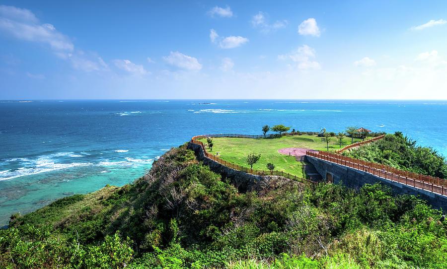 Chinen Cape   Okinawa Photograph by Dark koji