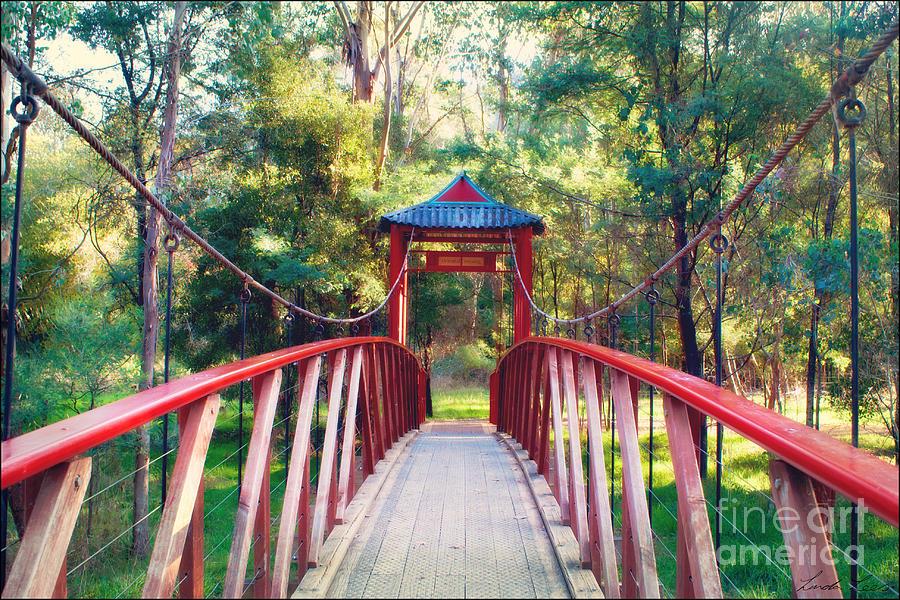 Bridge Photograph - Chinese Bridge Wandiligong by Linda Lees
