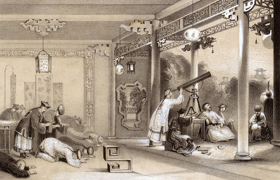 Natural Drawing - Chinese Ceremonies Performed  When An by Mary Evans Picture Library