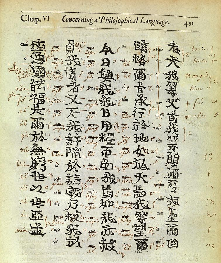 Annotation Photograph - Chinese Characters by Middle Temple Library