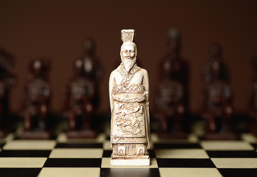 Chinese Photograph - Chinese Chess King by Dick Wood