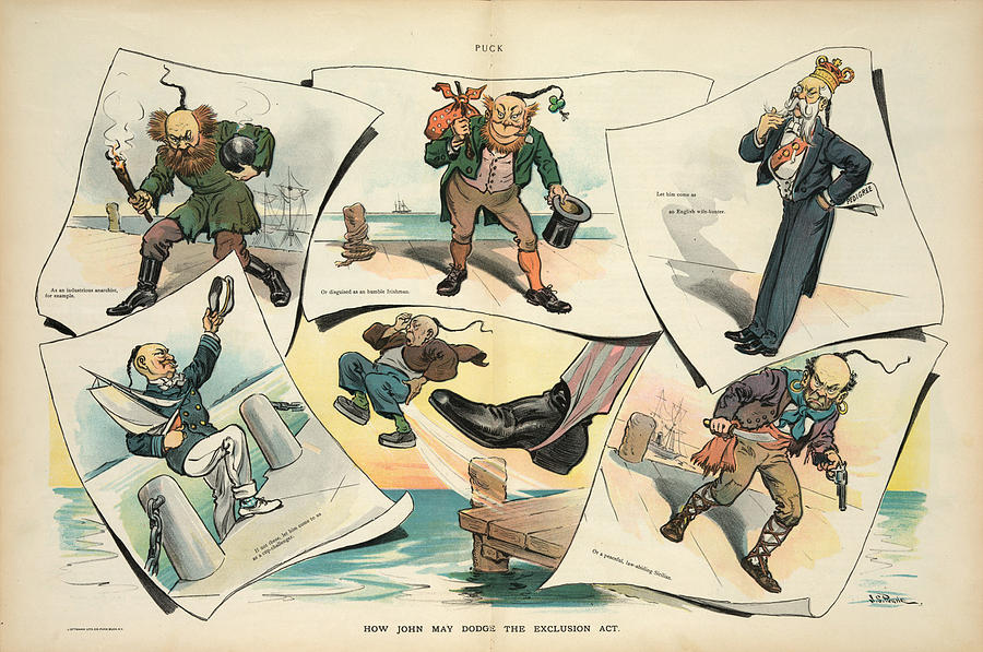 1905 Painting - Chinese Exclusion Act, 1905 by Granger