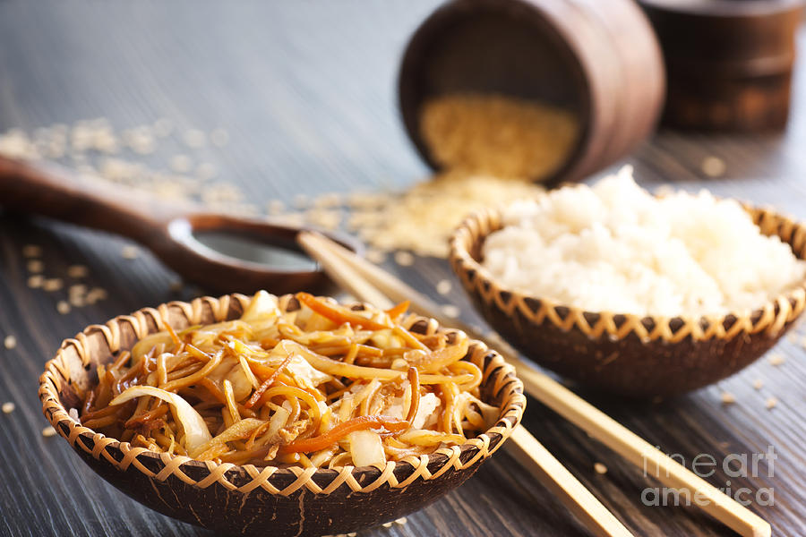 Asia Photograph - Chinese Food by Mythja  Photography