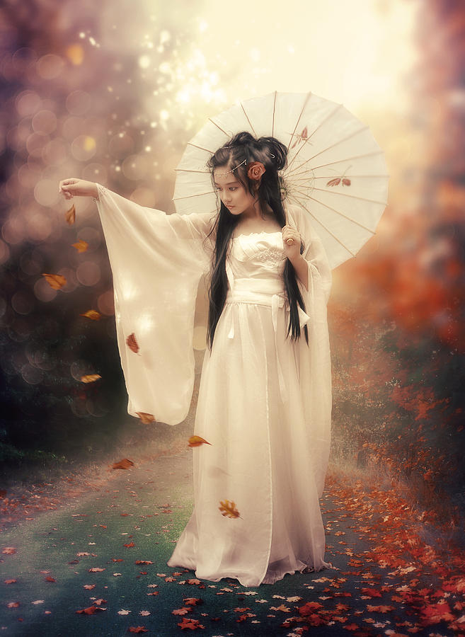 Chinese Photograph - Chinese Girl by Cindy Grundsten