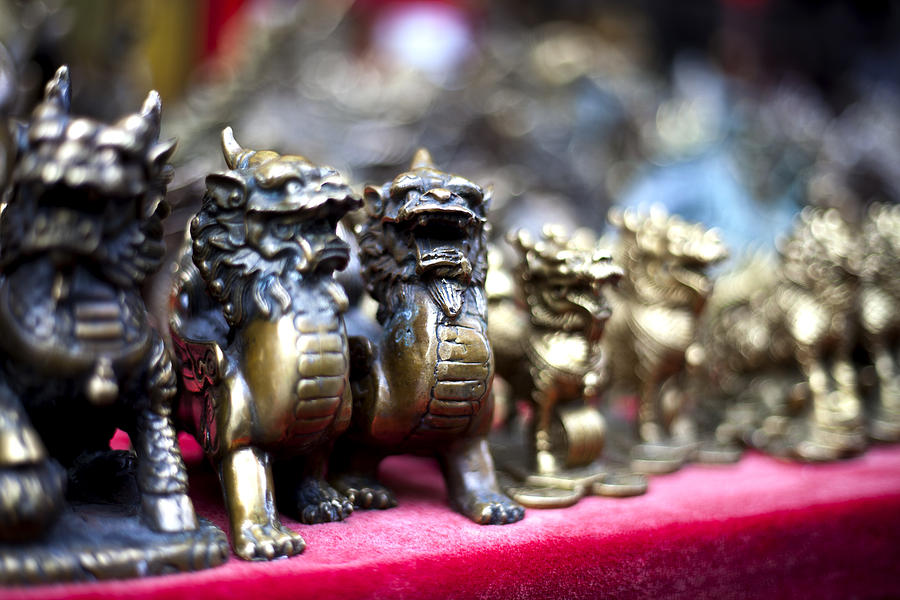 Chinese Photograph - Chinese Guardian Lions by SFPhotoStore
