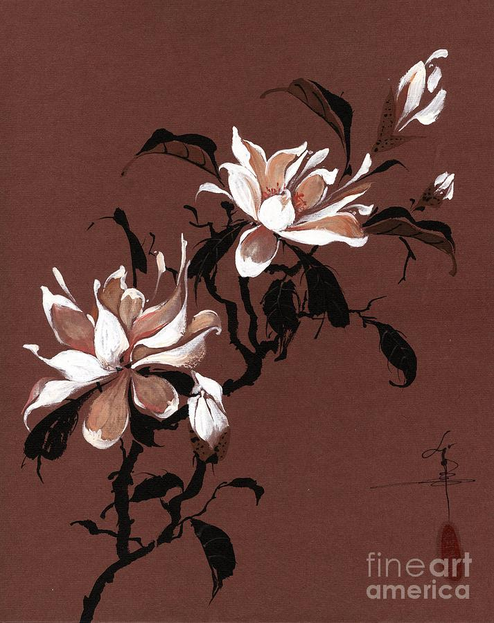 Flowers Painting - Chinese Magnolia by Linda Smith