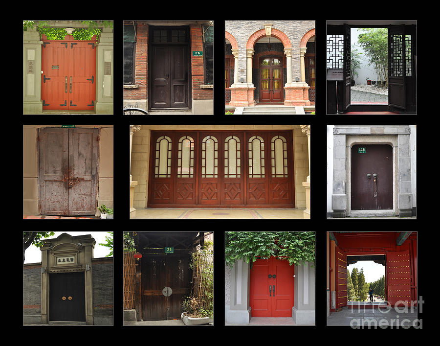 Entrances Photograph - Chinese Portals by Josephine Cohn