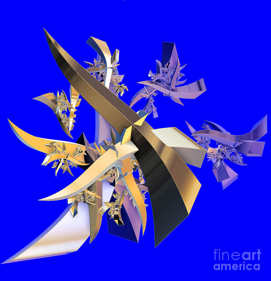 Abstract Digital Art - Chinese Puzzle by Brian Raggatt