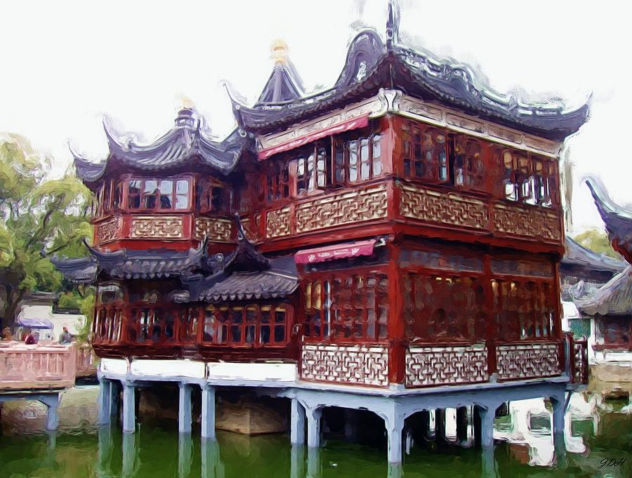 Chinese Tea House Photograph By Jenny Hudson