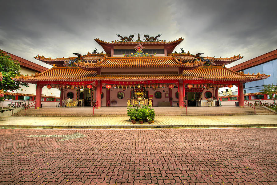 Chinese Photograph - Chinese Temple Paved Square by David Gn