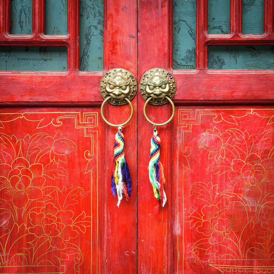 Chinese Traditional Door Photograph by Loveguli