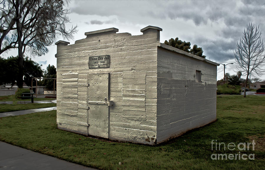 Old Photograph - Chino Jail - 02 by Gregory Dyer