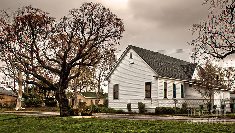 Chino Photograph - Chino Old School House - 02 by Gregory Dyer