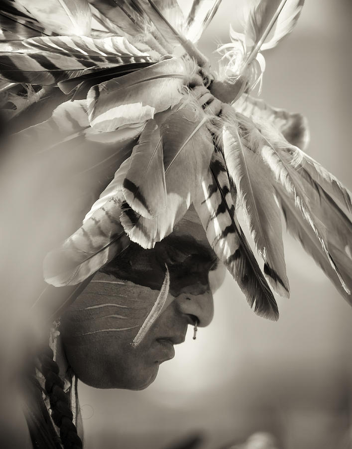 Chippewa Grass Dancer Photograph - Chippewa Indian Dancer by Dick Wood