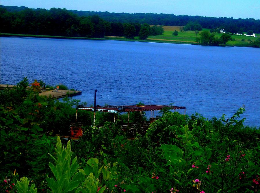 Chippewa Lake Park Photograph - Chippewa Park Boat by Mark Malitz