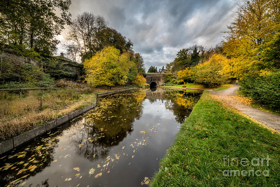 Canal Photograph - Chirk Canal by Adrian Evans