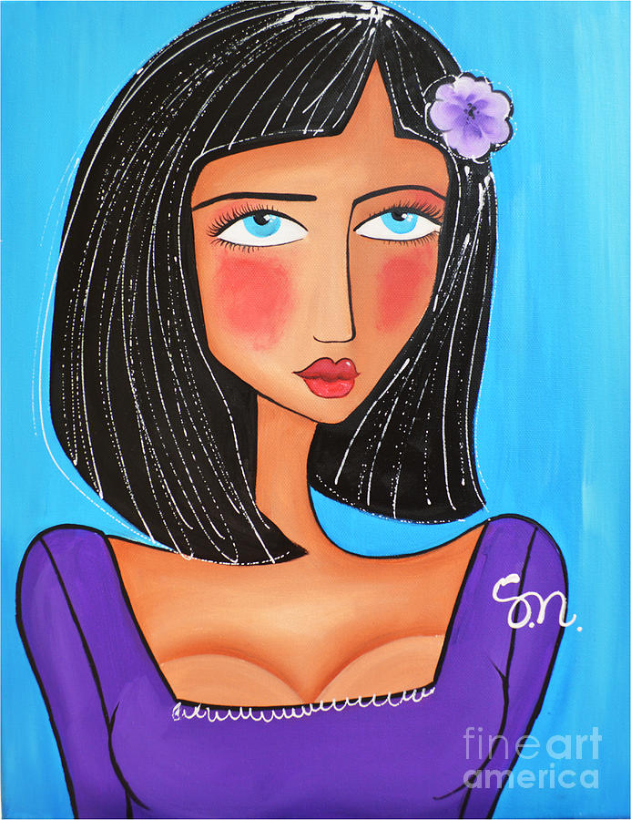 Woman Painting - Chloe by Maria Sopoglidou