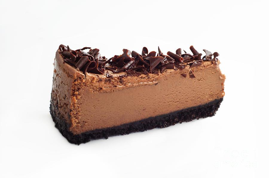 Cheesecake Photograph - Chocolate Chocolate Cheesecake - Dessert - Baker - Kitchen by Andee Design