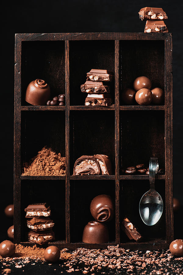Still Life Photograph - Chocolate Collection by Dina Belenko