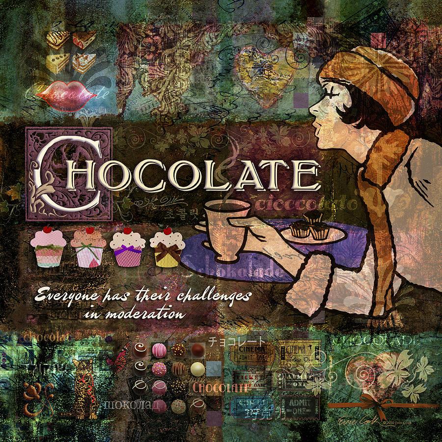 Chocolate Digital Art - Chocolate by Evie Cook