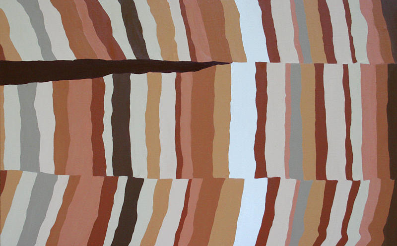 Abstract Painting - Chocolate Fault - Orig Sold by Paul Anderson