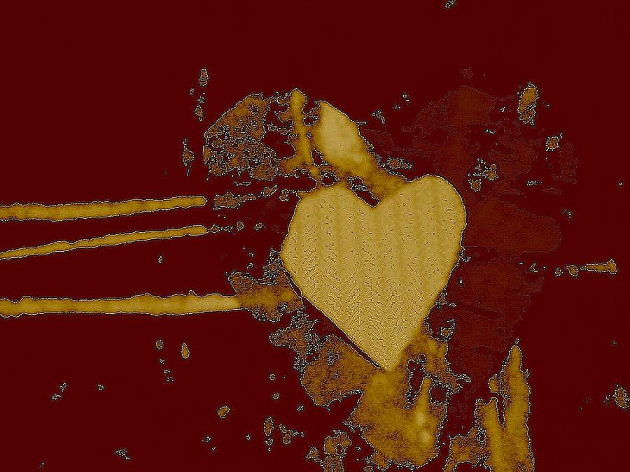 Chocolate-heart Mixed Media by Dorothy Rafferty