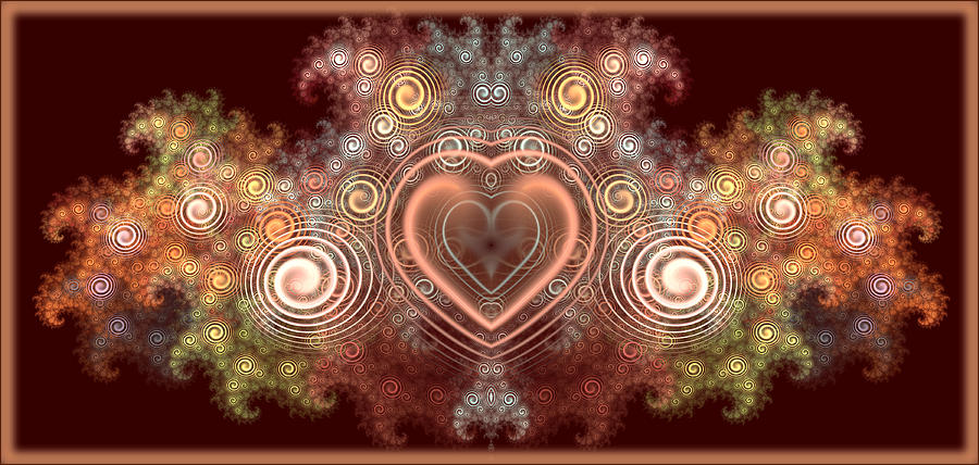 Abstract Digital Art - Chocolate Heart by Svetlana Nikolova