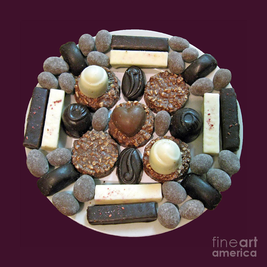 Chocolate Photograph - Chocolate Mandala by Ausra Huntington nee Paulauskaite
