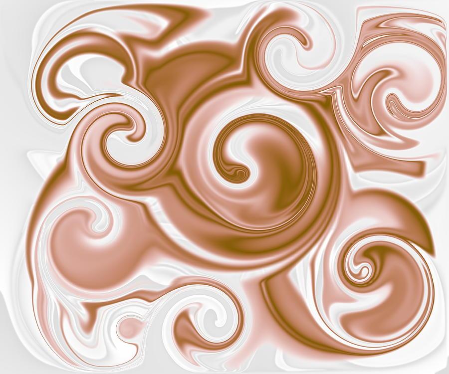 Chocolate Digital Art - Chocolate Milk Take 2 by Ron Hedges