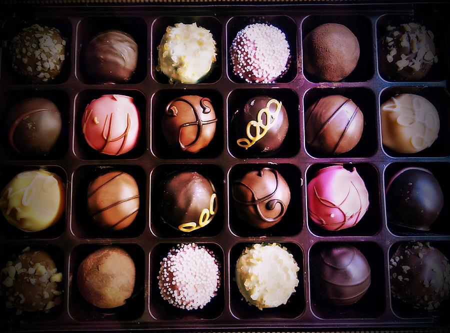 Godivas Chocolate  Box Art Prints Photograph - Chocolate Really Is Art by Denisse Del Mar Guevara