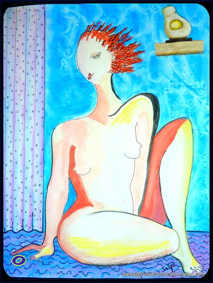 Women Painting - CHOICE - Its My Body by Satya Winkelman