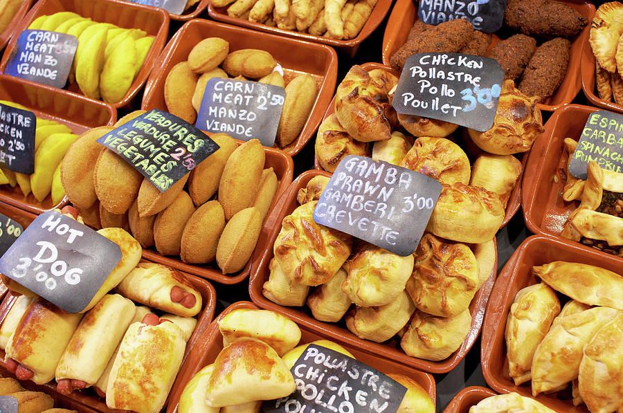 Choice Of Pastries For Sale In Boqueria Photograph by Howard Bartrop