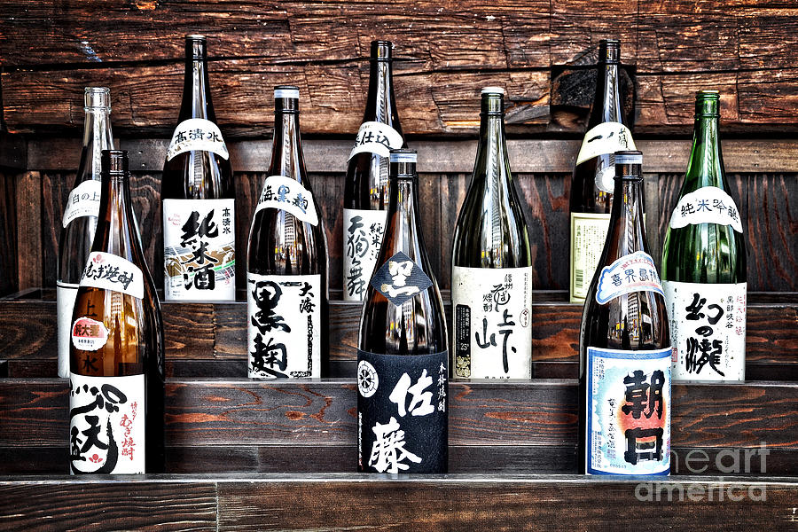 Sake Photograph - Choice Of Sake by Delphimages Photo Creations