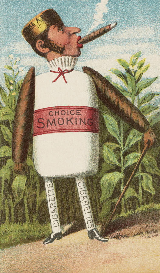 Vintage Drawing - Choice Smoking by Aged Pixel