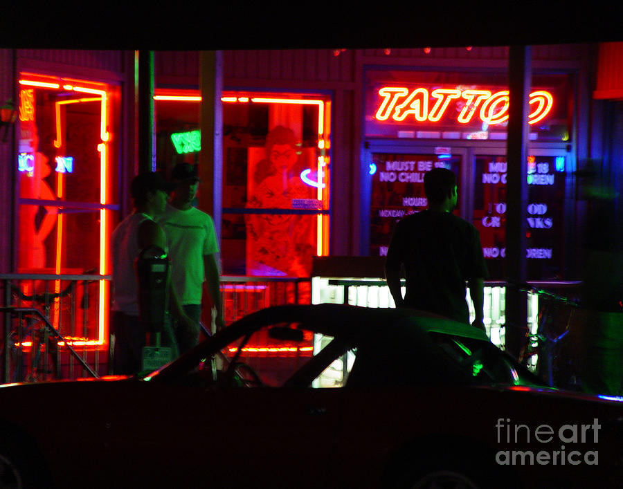 Neon Lights Photograph - Choices After Midnight by Peter Piatt