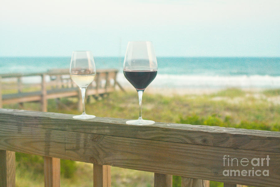 Wine Photograph - Choices At The Beach by Kay Pickens