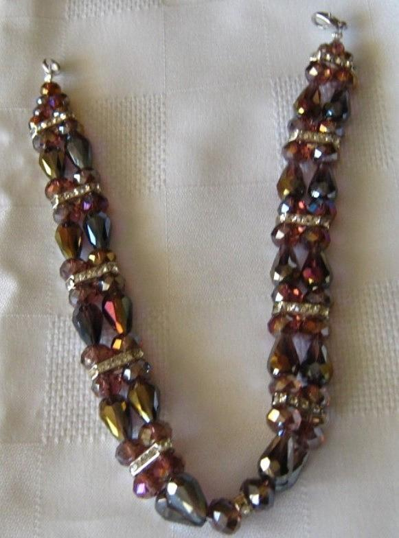 Purple Jewelry - Choker Necklace -handmade by Fatima Pardhan