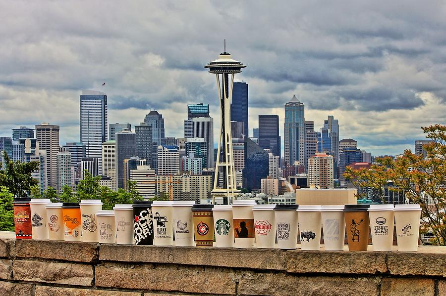 Seattle Photograph - Choose Your Brew by Benjamin Yeager